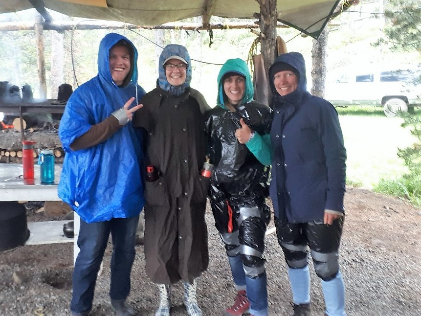 Day 2: Makeshift rain gear