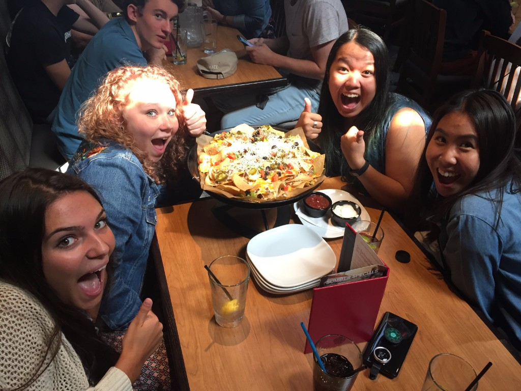 Sunday pizza - the gals