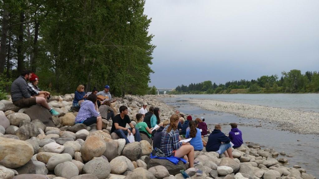 Reflecting at the river